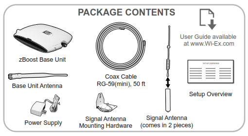 YX545 Package Contents